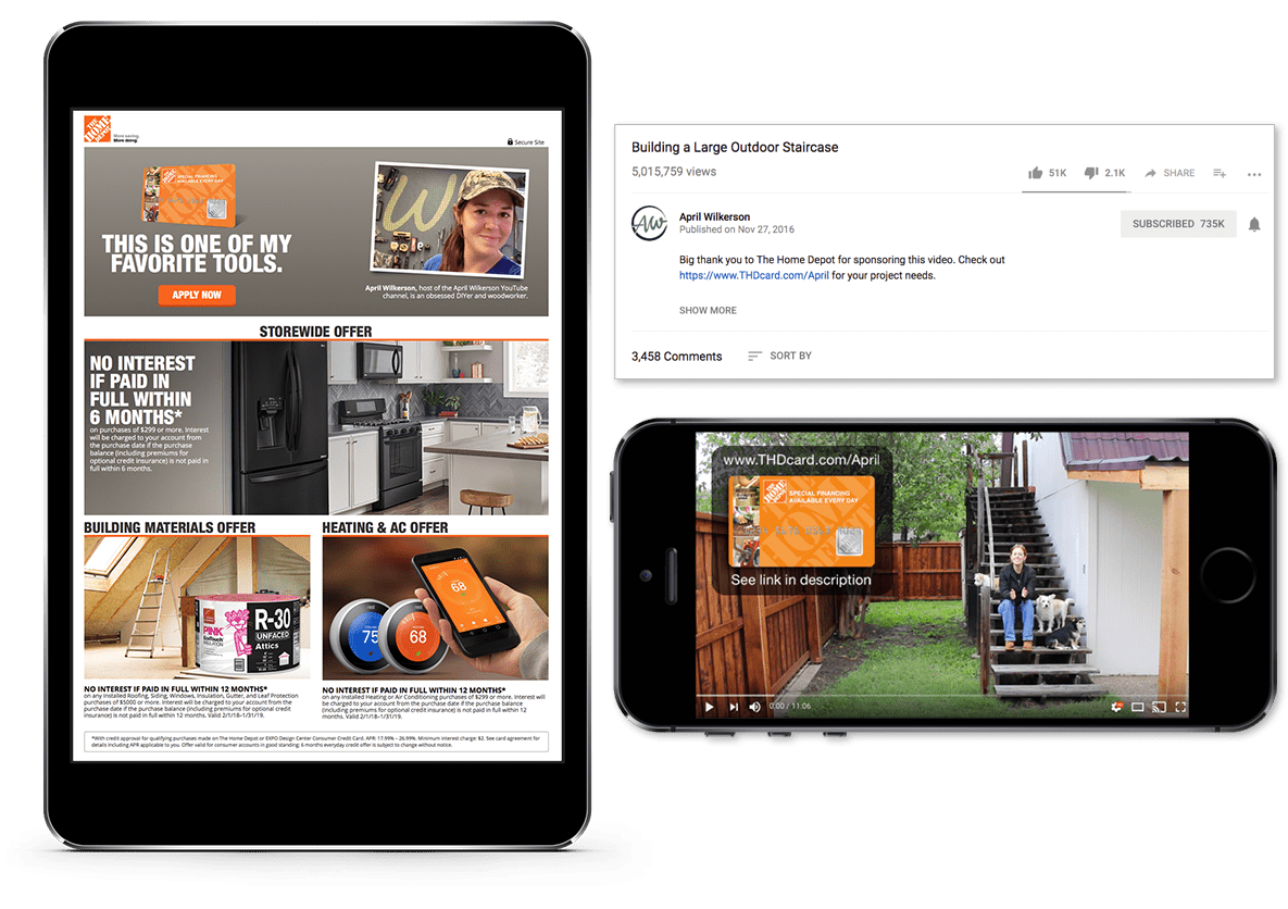 influencer marketing agency for Home Depot by Mastermind Marketing in Atlanta, GA